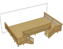 24' x 16' Deck w/ Two Stairs