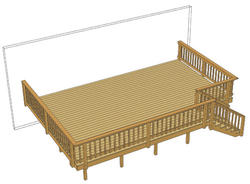 24' x 16' Single Level Deck