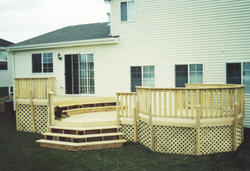 10' x 12' Main Deck w/ 12' x 10' Lower Deck and 10' Step-Up Octagon