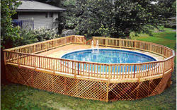 30' x 34' Walk Around Deck for a 24' Pool