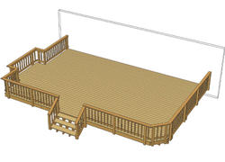 30' x 20' Deck w/ Grill Bump-Out and Iron Spindles