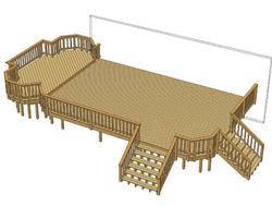 30' x 20' Deck w/ Step-Up Area