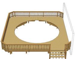 30' x 28' Pool Deck w/ Angled Corners