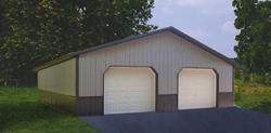 30'W x 36'L x 8'H Garage