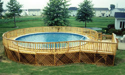 12' x 16' Pool Deck w/ 3' Walk Around for a 30' Pool
