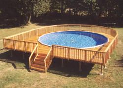 34' x 37' Walk Around Deck for a 27' Pool