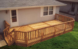 12' x 24' Leisure Deck w/ Lattice Apron