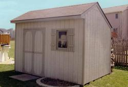 8'W x 12'D Saltbox Storage Building