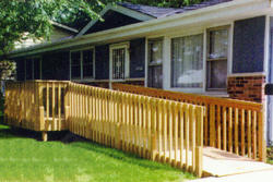 12' x 12' Deck w/ Attached Ramp