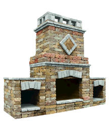 Alpine Fireplace W/2 Wood Boxes