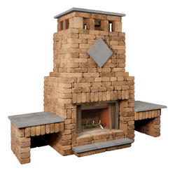 Bradford Fireplace with Double Woodbox