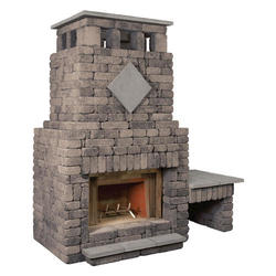 Bradford Fireplace with Single Woodbox