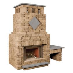 Bradford Fireplace with Single Woodbox