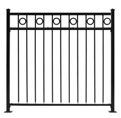 "Gilpin Inc. Embassy 42"" x 6' Fence with 7"" Deco Circle Top"