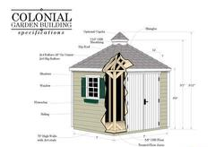 Colonial Do-It-Yourself 7'W x 7'DGarden Building