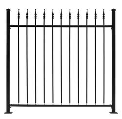 "Gilpin Inc. Embassy 66"" x 6' Fence with 7"" Metalist Finial Top"