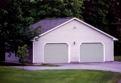 24' x 32' x 8' 2-Car Garage with Prebuilt Roof Trusses