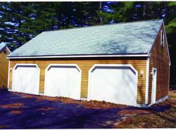 36' x 28' x 8' 3-Car Garage with Eave Entry