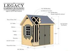 "Legacy Do-It-Yourself 7'10""W x 6'6""L Garden Building"