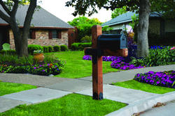OZCO Project #110 Estate Wooden Mailbox Post