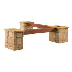 Rustic Planter Bench