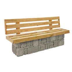Solid Bench with Back