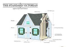 "Standard Victorian Do-It-Yourself 7'6""W x 6'1""L Playhouse"