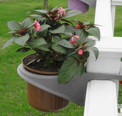 Ultradeck Post Single Flowerpot Holder