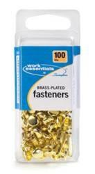 Brass-Plated Fasteners - No. 3, 100ct