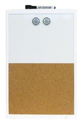 Quartet 11 x 17 Plastic Frame Magnetic Combo Board White