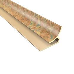 "FASADE 18"" Cracked Copper PVC Inside Corner Trim"