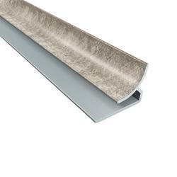 "FASADE 18"" Cross Hatch Silver PVC Inside Corner Trim"