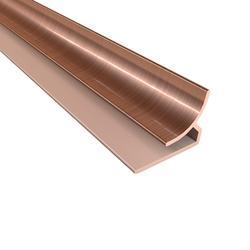 """FASADE 18"""" Polished Copper PVC Inside Corner Trim"""