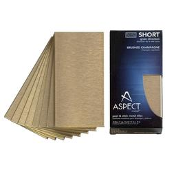 "Aspect 3"" x 6"" Short Grain Metal Peel & Stick Backsplash Tiles - 8 pcs"