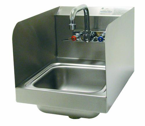 Advance tabco space saving hand wash sink splash mount - Space saving sinks kitchen ...