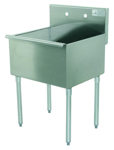 Stainless Steel Garage Sink : ... Tabco Utility Sink-16 gauge-Single Bowl-Stainless Steel- Floor Mount