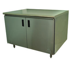 """Advance Tabco Enclosed Base Table-Hinged Doors-30"""" x 60""""-Stainless Steel-14 Gauge"""