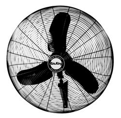 Air King 9074 1/3 HP Industrial Grade Oscillating Wall Mount Fan, 24-Inch
