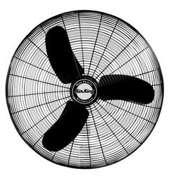 Air King 9175H Industrial Grade 1/3 HP Assembled Oscillating Fan Head, 30-Inch