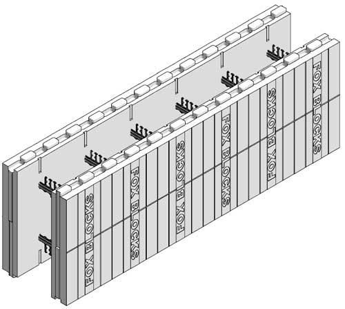 Fox blocks straight block with 10 core insulated concrete for Icf block prices