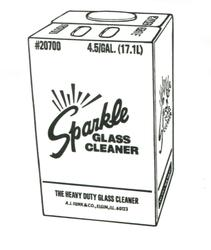 Sparkle Glass Cleaner 4.5 Gallon