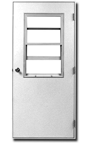Aj Manufacturing 36 X 80 Steel Vent Lite Mobile Home Door With White Jamb And Nail Fin