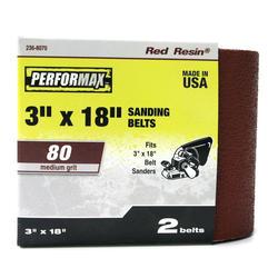 "Performax® 2-Pack 3"" x 18"" Sanding Belt (80-Grit)"