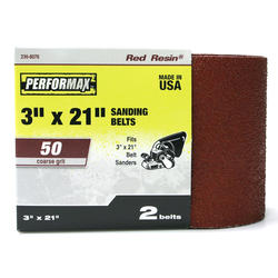 "Performax® 2-Pack 3"" x 21"" Sanding Belt (50-Grit)"