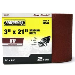 "Performax® 2-Pack 3"" x 21"" Sanding Belt (80-Grit)"