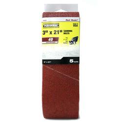 "Performax® 5-Pack 3"" x 21"" Sanding Belt (40-Grit)"