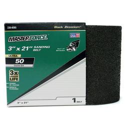 "Masterforce® 1-Pack 3"" x 21"" Sanding Belt (50-Grit)"