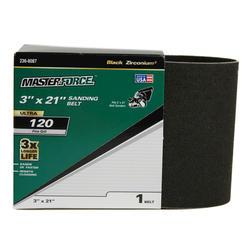 "Masterforce® 1-Pack 3"" x 21"" Sanding Belt (120-Grit)"