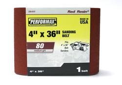 "Performax® 1-Pack 4"" x 36"" Sanding Belt (80-Grit)"