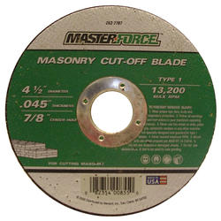 "Masterforce® 4-1/2"" x .045 Masonry Cut-Off Wheel"